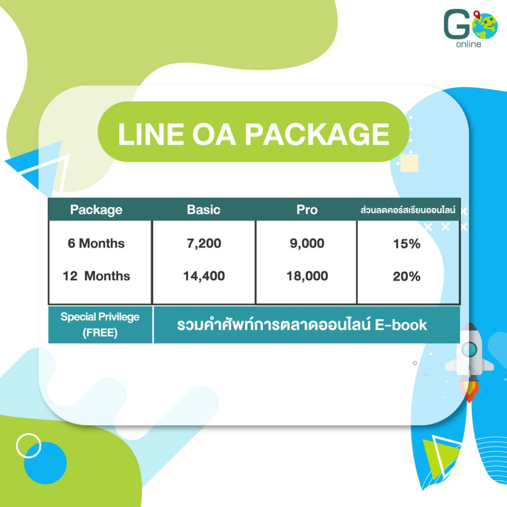 LINE Official Account Package จากเอเจนซี่ Go Online